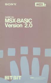 msx basic  sony msx2