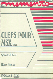 msx basic methode pratique  clef assembleur